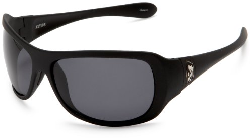 S4 Women's Axtion Square Sunglasses,Matte Black Frame/Grey Lens,one - Sunglasses S4