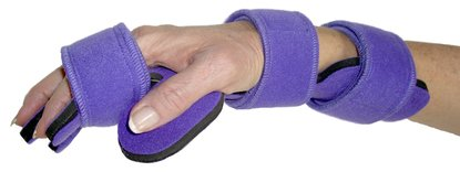 DSS Comfyprene Hand/Wrist Separate Finger Orthosis Adult (Right, Purple) by DSS