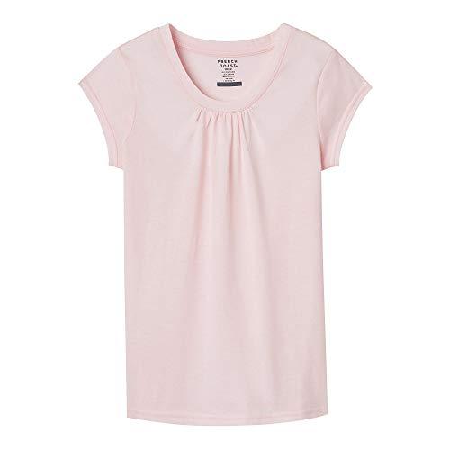 Light Toast - French Toast Girls' Big Short Sleeve Crewneck T-Shirt Tee, Light Pink, M (7/8)