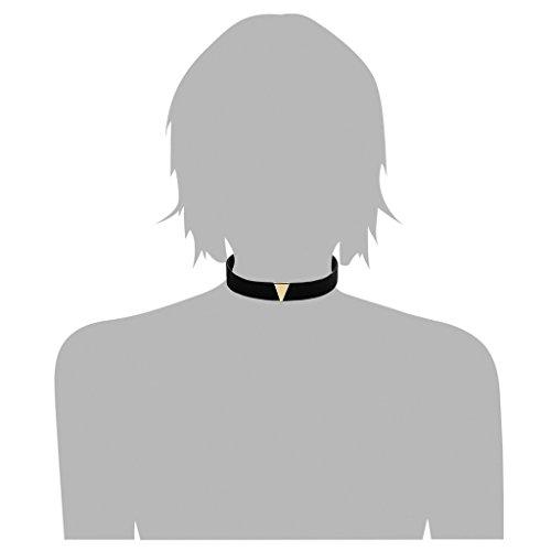 Aooaz Dentelle Cuir Collier Femmes Or Triangle Noir Velours Ras Du Cou Élastique Chaîne Tatouage Punk
