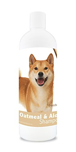 Healthy Breeds Dog Oatmeal Shampoo with Aloe for Shiba Inu - Over 75 Breeds - 16 oz - Mild and Gentle for Itchy, Scaling, Sensitive Skin - Hypoallergenic Formula and pH Balanced