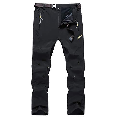 Kolongvangie Men's Outdoor Fleece Lined Ripstop Comfortable Warm Mountain Pants