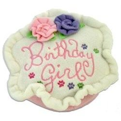 Birthday Cake Pink Plush Dog Toy