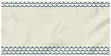 8x4 Blank Nautical Waves Heavy-Duty Outdoor Vinyl Banner CGSignLab