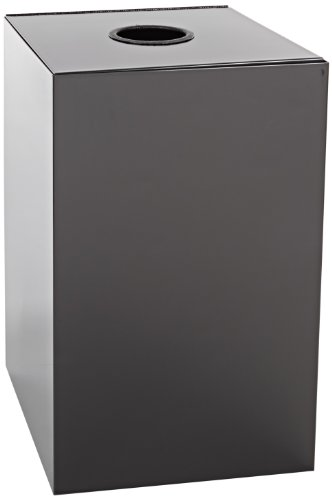 Geo Cubes Round Opening Lid - Witt Industries 28GC01-CB Steel 28-Gallon Geo Cube Recycling Container, Round Opening, Legend