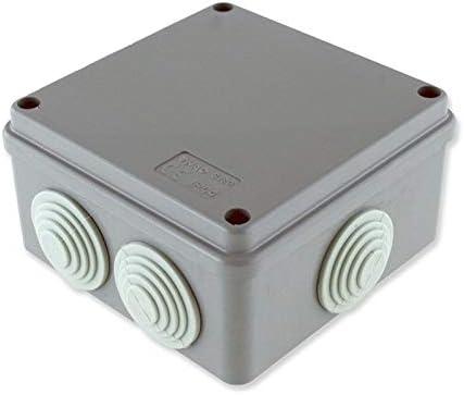 takestop® - Caja de derivación de Cables, 10 x 10 x 5 cm, 6 pasacables JK_649 electrocanales, Impermeable, Exterior, IP44, Caja de instalación eléctrica de Pared: Amazon.es: Electrónica