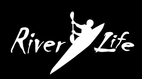River Life Kayak Decal Vinyl Sticker|Cars Trucks Vans Walls