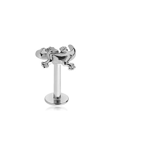 (El Morro Labret Body Piercing Jewelry Surgical Steel Micro Labret With Attachment - Salamander 16g)