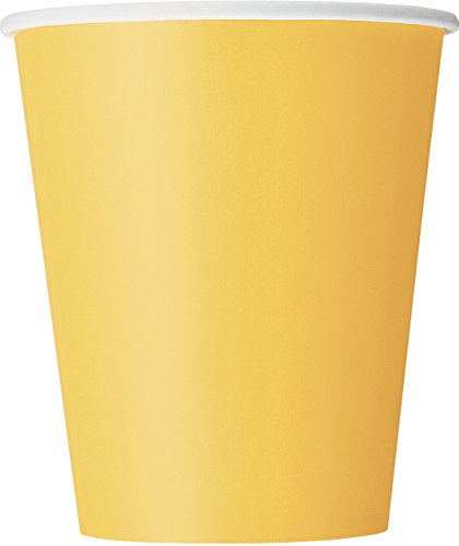 9oz Yellow Paper Cups, 14ct