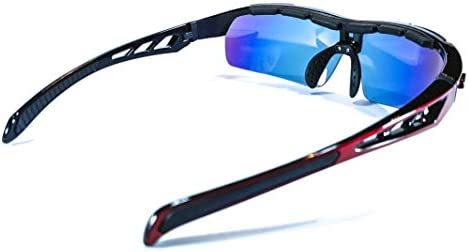 BTT Gafas Deportivas REVO Hombre y Mujer 5 Lentes Intercambiables UV 400 Brown Labrador Gafas Ciclismo polarizadas Triatlon Running Trail Running