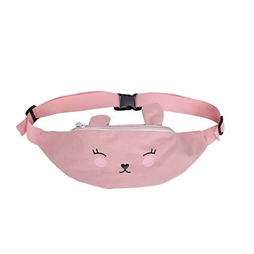 Joker Waist Bag Ladies Classic Waist Bags Women Fanny Pack Belt,Pink