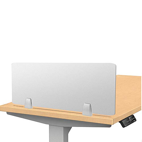 Owfeel 23 L×12 W Frosted Desk Privacy Divider, Office Divider Partition, Desk Separator Panel for Student Call Centers, Offices, Libraries, Classrooms Acrylic Clamp (Not Include Clip)