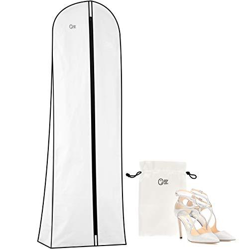 Premium Wedding Dress & Long Gown Garment Bag for Travel & Storage | 72 Inch, 10
