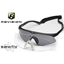 Revision Military Sawfly You get 1 Clear Lens Only + Bonus Free Belt Case$ and Free $9 Chums Headband Regular - Black Frame ** Demo Open Box Closeout $9 Compare at $65 Like New + Super Fast APO Shipping SOrry No Rain Checks. G-d Bless Our Troops!!