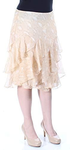 Lauren Ralph Lauren Womens Chiffon Snake Print Tiered Skirt Tan - Ralph Lauren Women Skirts