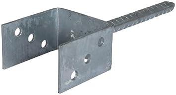 Anclaje en el suelo para postes de madera/postes Guantes 9 x 9 X20 cm para hormigón de acero, galvanizado: Amazon.es: Jardín