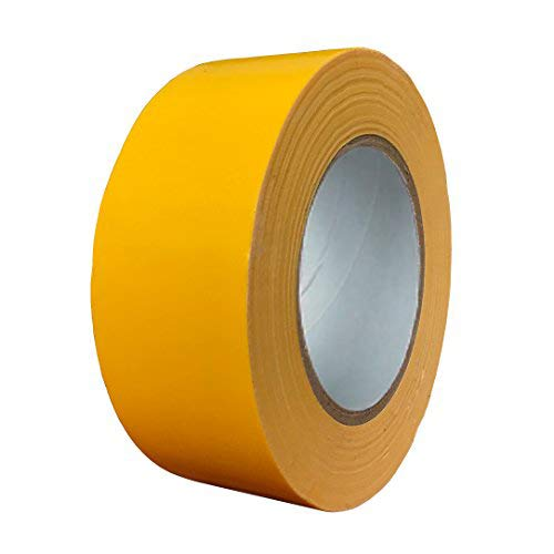 Exa Duct Tape 1.88 Inches x 60 Yards, Duct Tape for Crafts, Extra Strength, No Residue, DIY, Repairs, Indoor Outdoor Use, Book Repair, Must Have Garage Tool (1.88 X 60 Yards, Yellow) ()