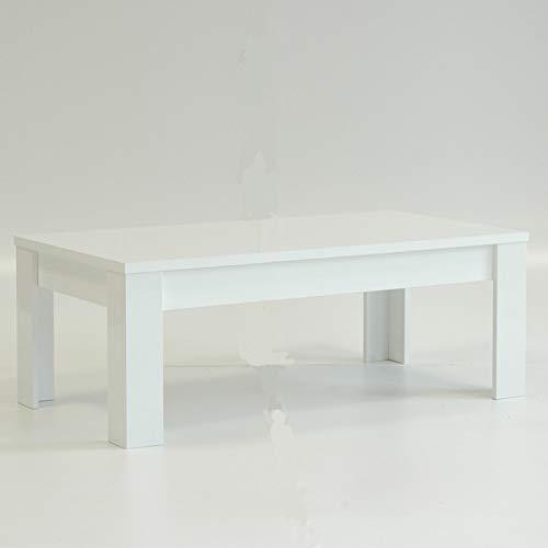 Tousmesmobili - Mesa Baja lacada Blanco Brillante - Trini - 122 x ...
