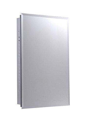 (Ketcham Cabinets Euroline Series Recessed Slim Style Medicine Cabinet Beveled Edge Mirror 16