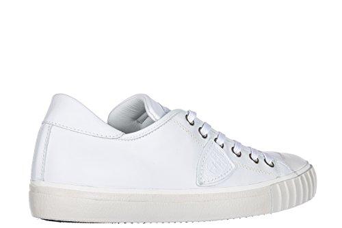Philippe Model Zapatos Zapatillas de Deporte Hombres EN Piel Nuevo Gare Blanco