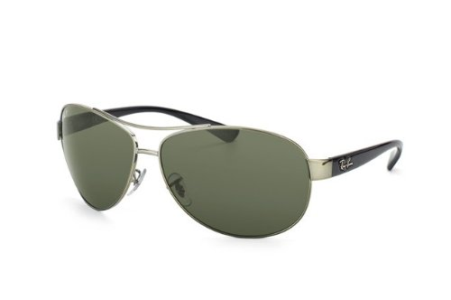 Ray-Ban RB3386 RB3386 Sunglasses Gunmetal / Polar Green - 3386 Ban Ray