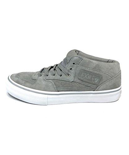 Vans Half Cab Pro 25th Silver Men's Classic Skate Shoes Size 8 (Vans Cab Half Shoe Pro)