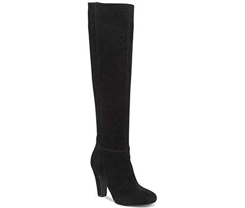 Jessica Simpson Womens ference Leder Geschlossene Zehe Kniehohe Mode Stiefel Schwarz Split Wildleder