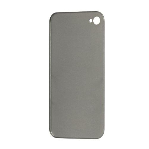 [A4E] Apple iPhone 4 4G 4S galvanisierte und sehr edle PREMIUM Schutzhülle mit Logo und Bumper / Rahmen für Vorder- und Rückseite in silber