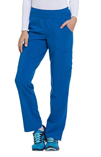 Dickies EDS Essentials DK005 Natural Rise Tapered Leg Pull-On Pant Royal Large Petite from dickies