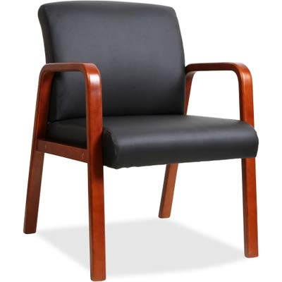 (Lorell Guest Chair, Black/Cherry, 24 by 25-5/8 by 33-1/4-Inch)