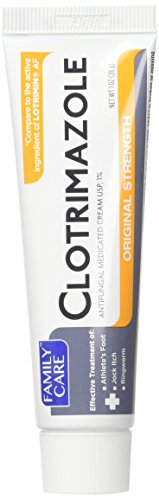 (3 Pk. Family Care 831527005052-1 Clotrimazole Anti-Fungal Cream , 1% USP)