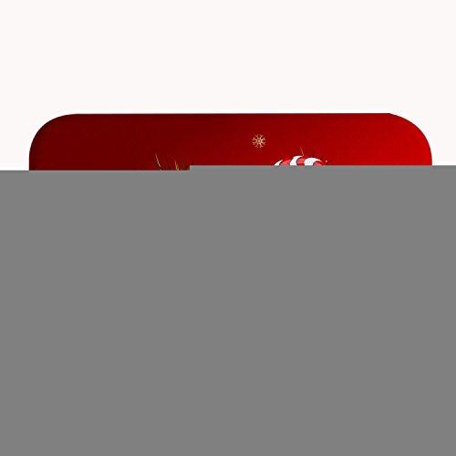 TrUiuiui Christmas Ornaments Red Bath Mat Coral Fleece Area Rug Door Mat Entrance Rug Floor Mats for Front Outside Doors Entry Carpet 40 X 60 X 1.3 cm SDJ-222