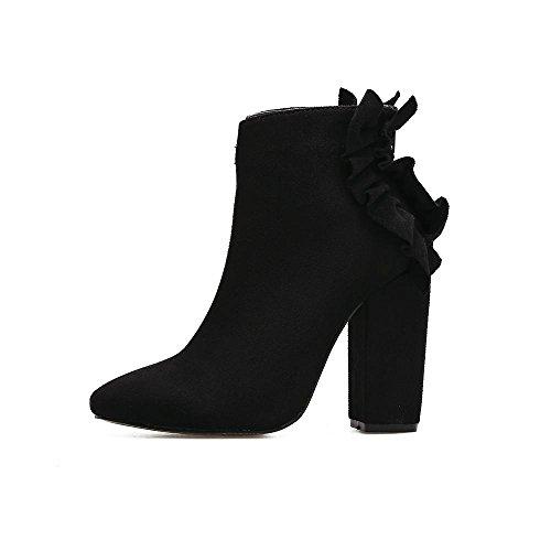 Et Bureau Rough Bottes amp; Carrières Automne Femmes Black L Coat yc D'hiver Toe Pantoufles Soirée nwvxTqgYI