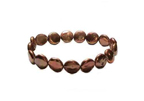 - twenty-nine eleven Stretch Freshwater Coin Pearl Bracelet (Bronze)