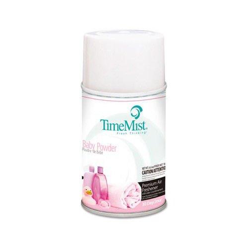 TimeMist 332512TMCT 5.3 oz. Metered Baby Powder Fragrance Dispenser Refills (12-Pack)