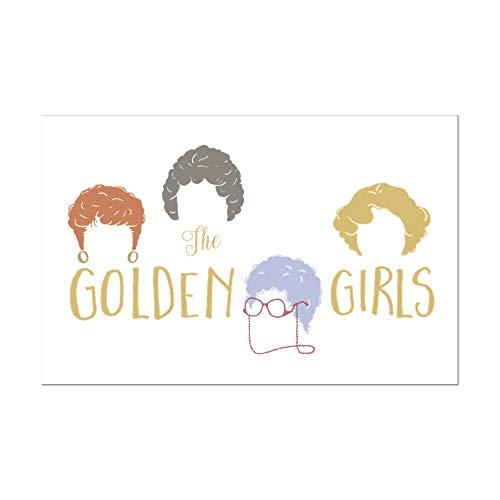 CafePress Golden Girls Minimalist Posters Mini Poster Print