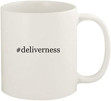 #deliverness - 11oz Hashtag Ceramic White Coffee Mug Cup, White