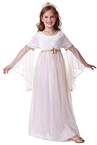 Girls Sweet Angel Gabriel Christmas Xmas Nativity School Play Festive Celebration Fancy Dress Costume Outfit (10-12 years)]()