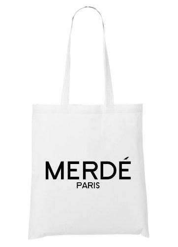 Merdè Paris Bag White