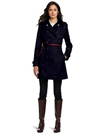 Tommy Hilfiger Women's Andrea Trench Coat, Midnight Navy, Small