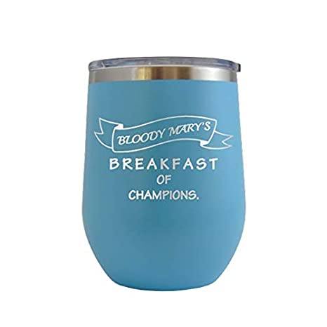 Amazon Com Bloody Mary S Breakfast Of Champions Engraved 12 Oz