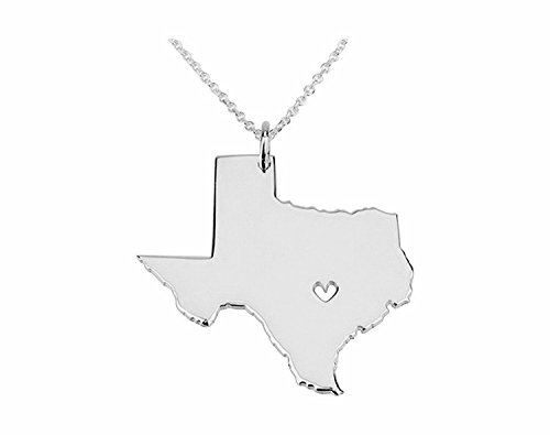 Lone Star Pendant (Art Attack Silvertone I Heart Texas Longhorn Lone Star State Outline Pendant Necklace)