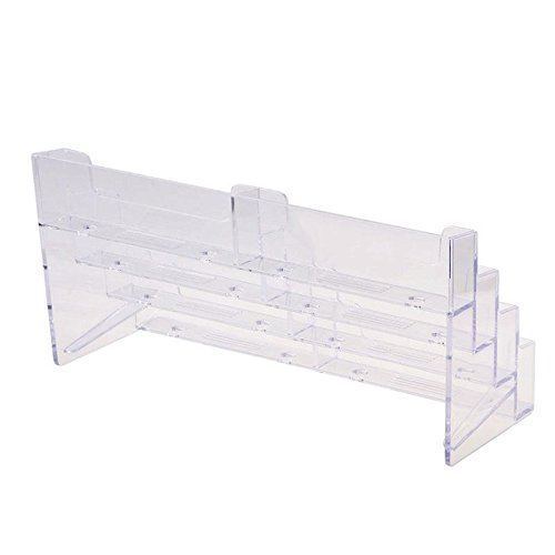 ZHUOTOP 8 Pocket Desktop Clear Acrylic Business Card Holder Display Stand Tool