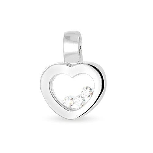 Tous mes bijoux - Pendentif seul (sans chaîne) - Or blanc 18 cts - Diamant 0.15 cts - PDTHR01006