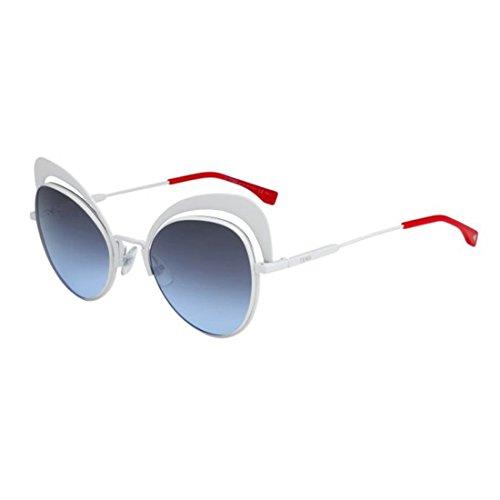Fendi Women's Cat Eye Sunglasses, White/Grey Azure, One - Glasses Fendi Eye