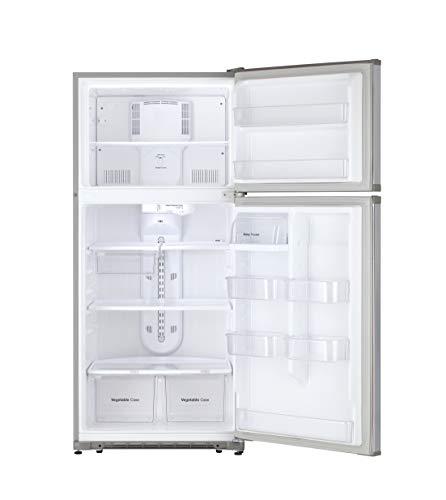 Daewoo RTE18GSSLD Top Mount Refrigerator, 18 Cu.Ft, Stainless
