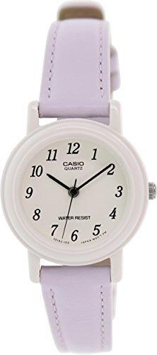 Casio Women's Light Purple Genuine Leather Analog Watch (Genuine Leather Watch Case)