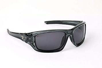 Fox Matrix - Gafas de Sol polarizadas, Marco Negro, Lente Gris