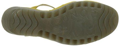 Fly London P500712008, Sandalias de Cuñas Mujer Amarillo (Lemon 007)