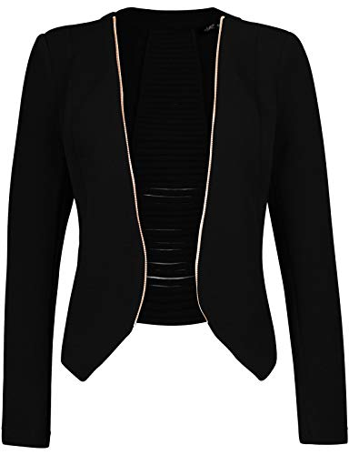 Michel Womens Open Front Cardigan Blazer Jacket Medium